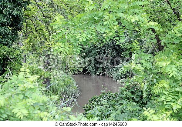 river landscape - csp14245600