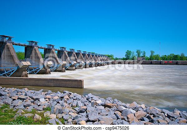 River Lock and Dam - csp9475026