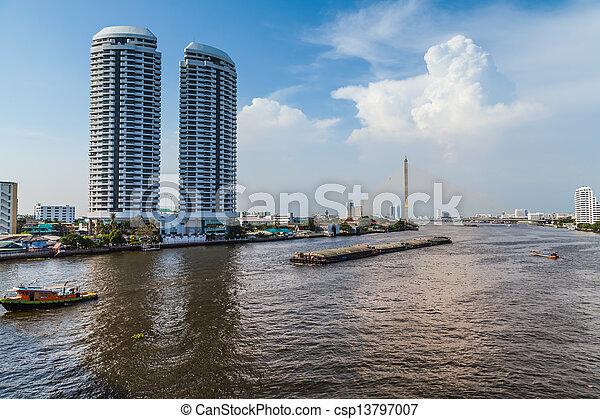 Río Chao phraya. - csp13797007