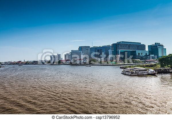 Río Chao phraya. - csp13796952