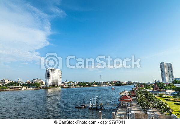 Río Chao phraya. - csp13797041