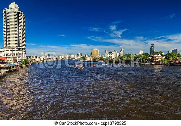 Río Chao phraya. - csp13798325