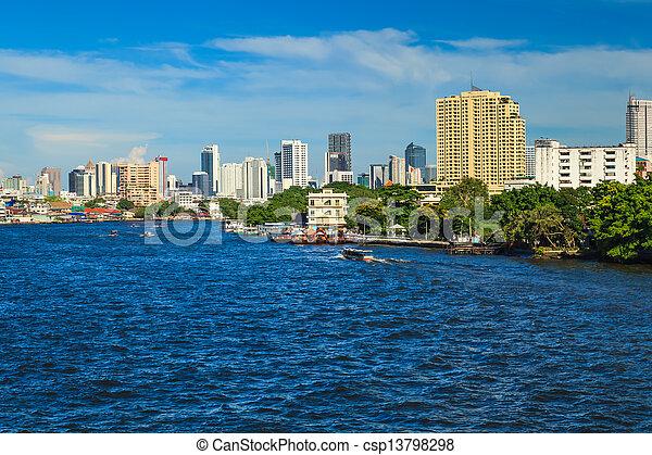 Río Chao phraya. - csp13798298