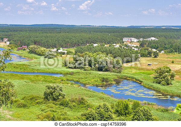 River Ros summer landscape, Ukraine - csp14759396
