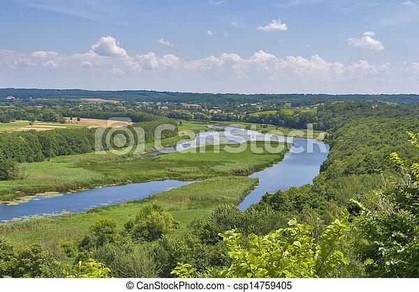 River Ros summer landscape, Ukraine - csp14759405