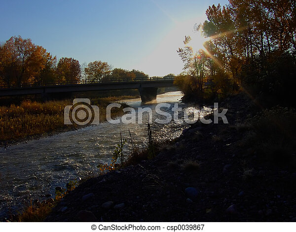 River Sunrise - csp0039867