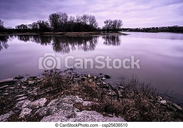 River Sunrise - csp25636510
