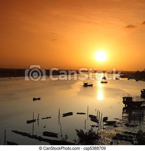 river sunrise - csp5368709