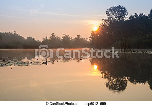 River sunrise - csp60121699