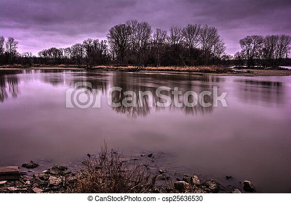 River Sunrise - csp25636530