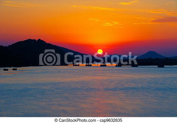 River Sunset - csp9632635