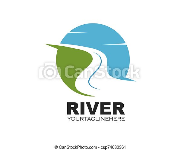 river vector illustration icon design template can stock photo