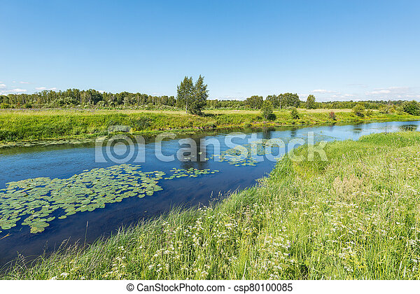 River view at summer hot day time. - csp80100085