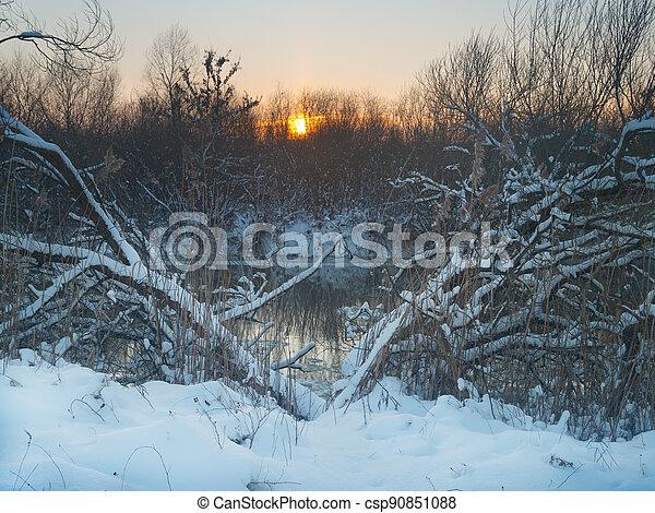 river winter - csp90851088