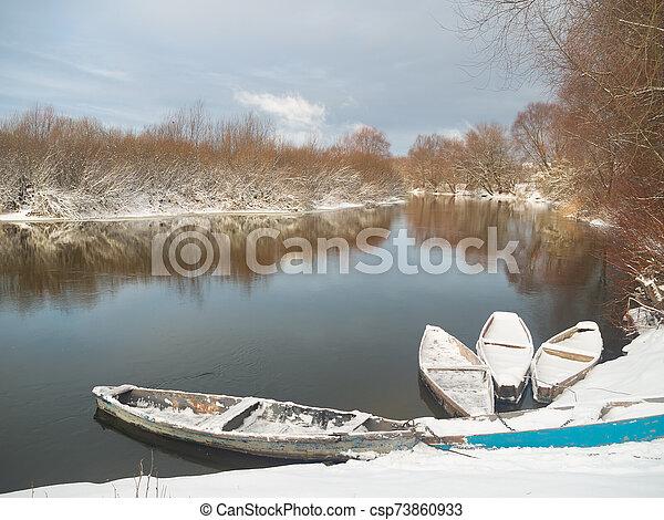 river winter - csp73860933