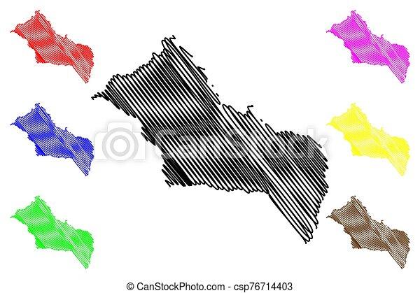 Rivera Department (Departments of Uruguay, Oriental Republic of Uruguay) map vector illustration, scribble sketch Rivera map - csp76714403
