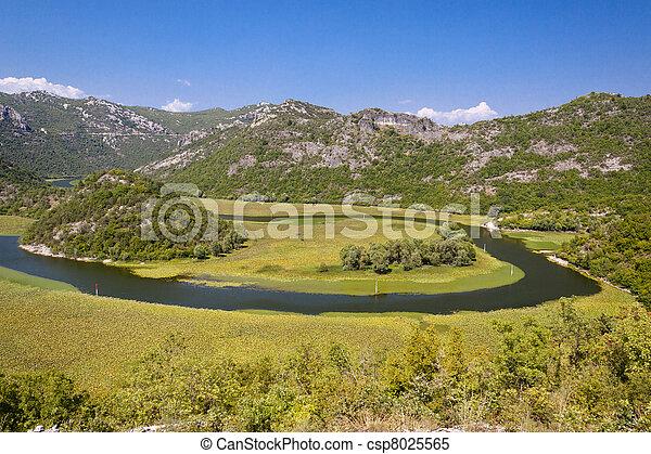 Rivers meander - beauty view , Montenegro - csp8025565