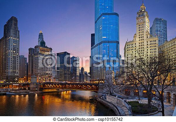 Chicago Riverside. - csp10155742
