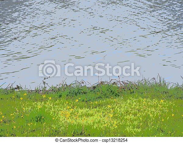 riverside of spring - csp13218254