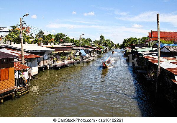 Riverside residential in Thailand - csp16102261
