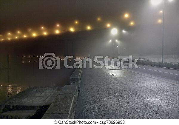 rivière, nuit, front mer, douro - csp78626933