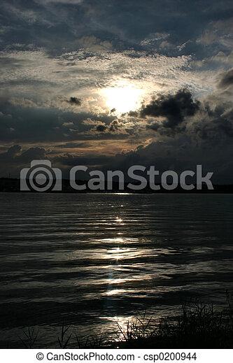 rivière, reflet - csp0200944