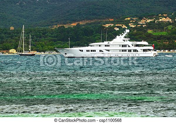 riviera, yacht, luxe, francais, côte - csp1100568