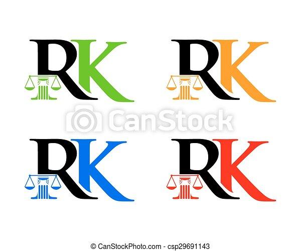rk, 法律, 頭文字 - csp29691143