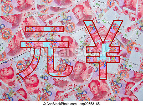 Rmb Symbol Of Chinese Currency With Bank Note