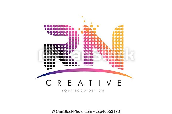Rn r n letter logo design with magenta dots and swoosh rn r n dots rn r n letter logo design with magenta dots and swoosh csp46553170 altavistaventures Gallery