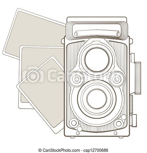 ročník kamera, viněta, fotografie - csp12700686