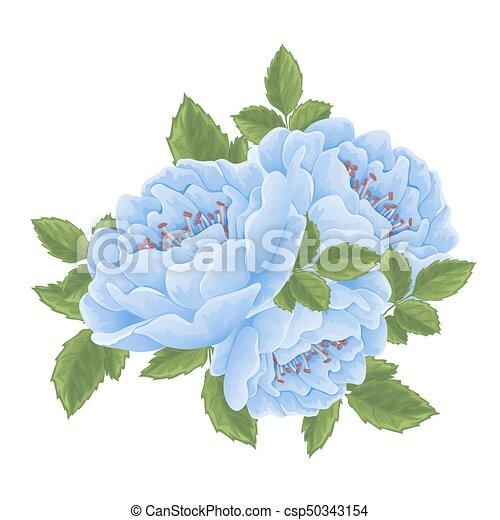 ro, flowers., grafisk, engelsk - csp50343154