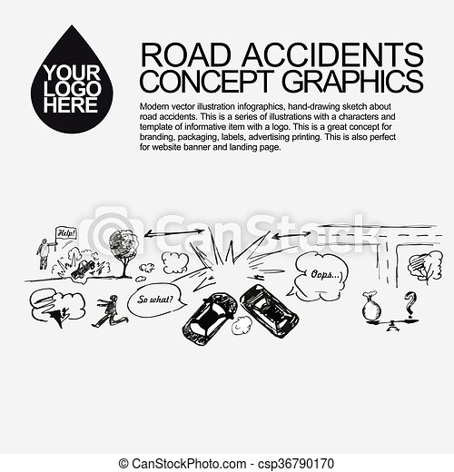 Road accident. the car crashed incident. A road accident concept ...