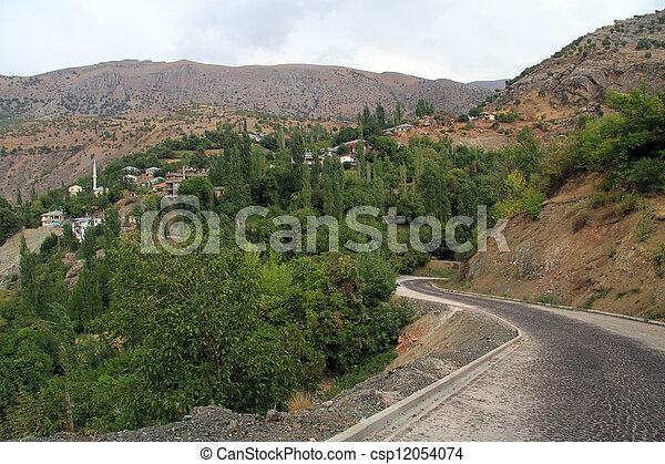 Road and village - csp12054074