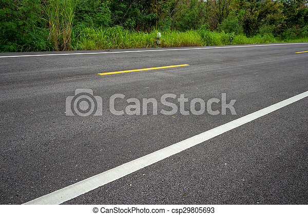 Road asphalt texture with separation lines - csp29805693