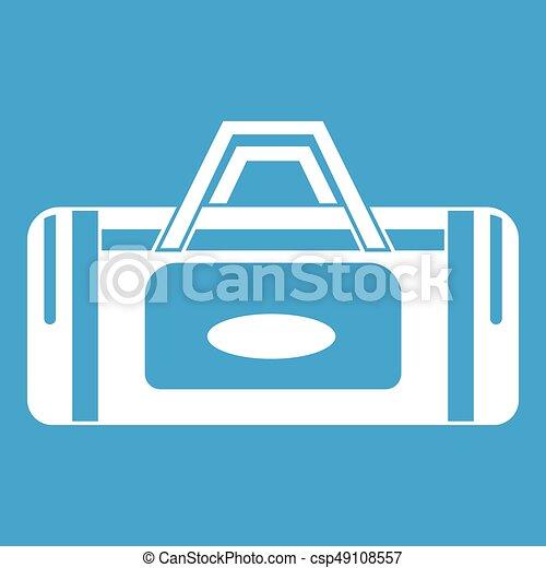 Road bag icon white - csp49108557