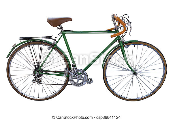 b8d85e81d69 Road bike isolated. Vintage road bicycle isolated on white background.