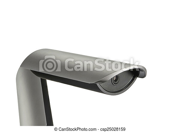 Road camera isolated on white - csp25028159