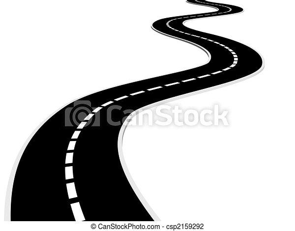 road isolated asphalt road 3d render