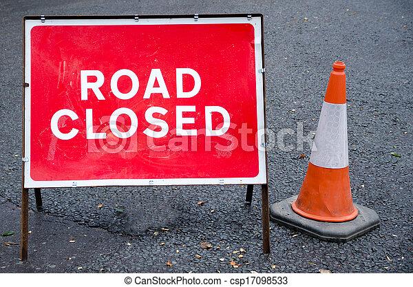 Road closed sign - csp17098533