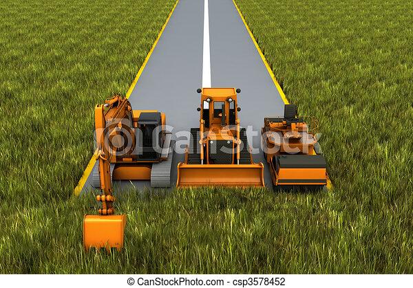 Road construction - csp3578452