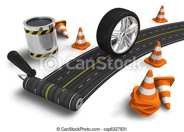 Road construction concept - csp6327931