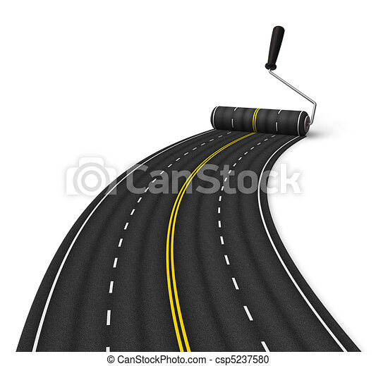 Road construction concept - csp5237580