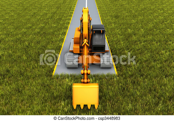 Road construction - csp3448983