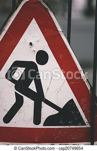 road construction sign - csp20749654