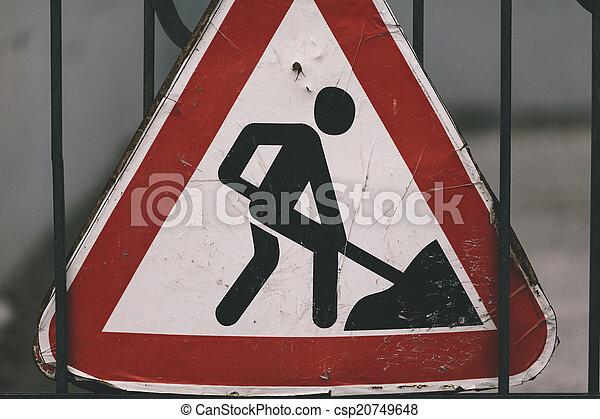 road construction sign - csp20749648