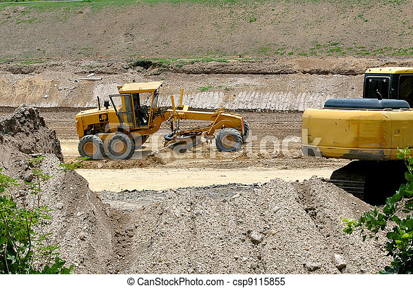 road construction - csp9115855