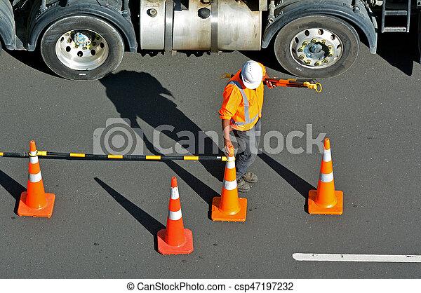 Road construction worker - csp47197232