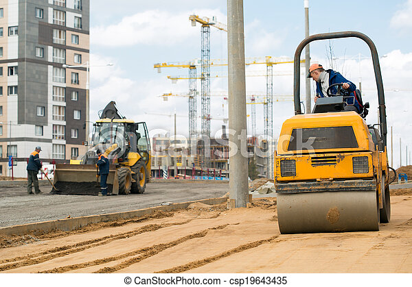 Road construction works - csp19643435