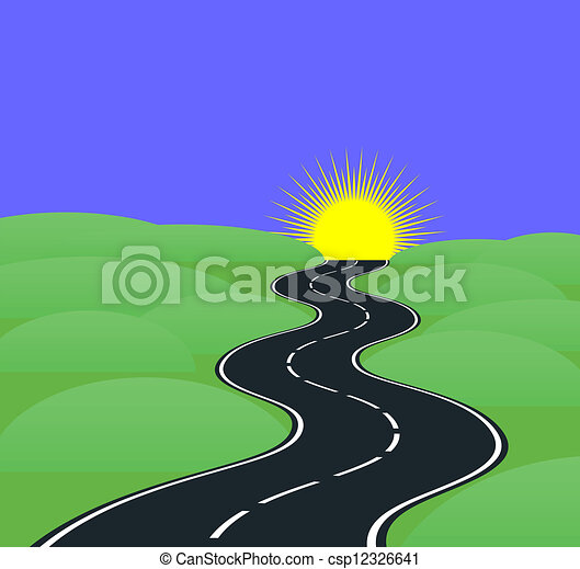 Road curves - csp12326641